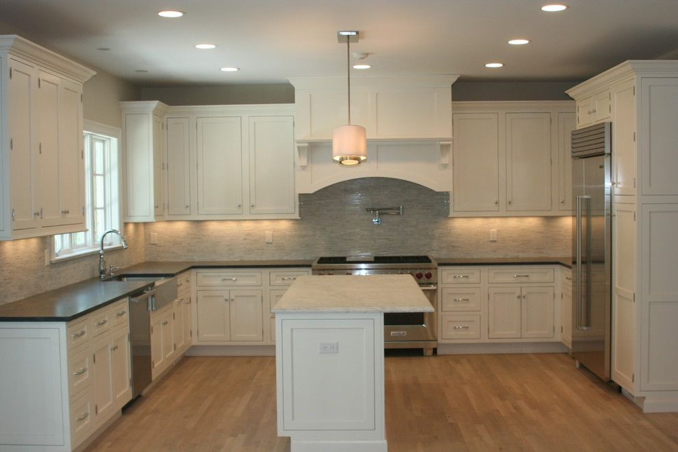 Jet Mist Granite for a Traditional Kitchen with a Asian Statuary and Kitchen by Ideal Tile of Stamford