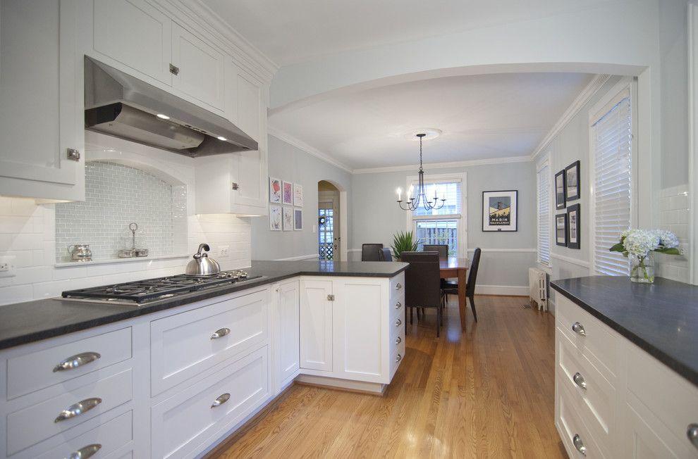 Jet Mist Granite for a Traditional Kitchen with a Traditional and Contemporary Kitchen 2 2011 by Murphy's Design