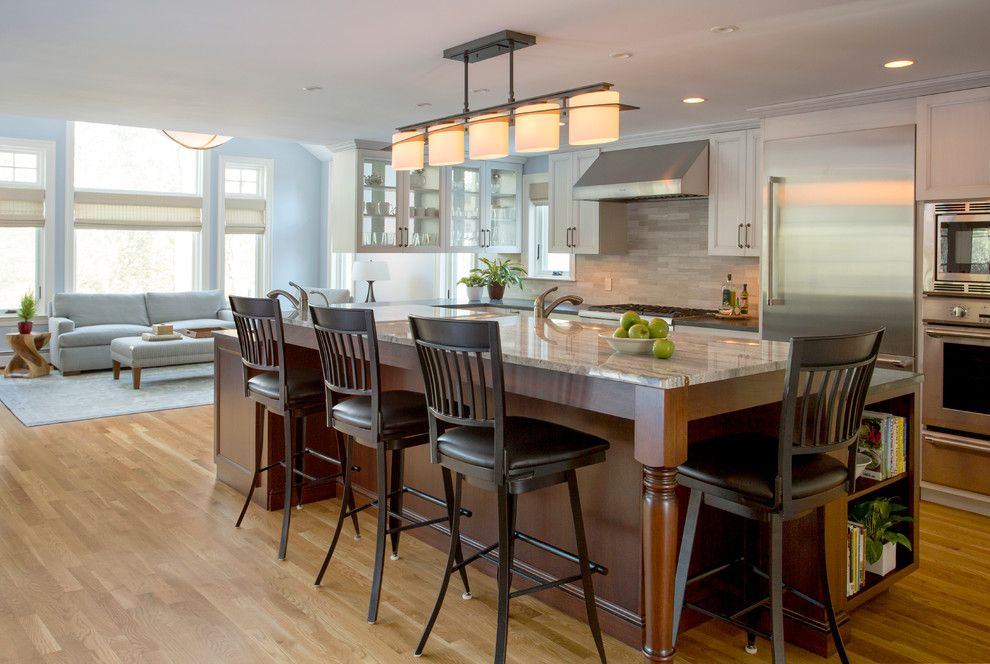 Jet Mist Granite for a Transitional Kitchen with a Thermador and 1939 Brick Colonial by Thomas Buckborough & Associates