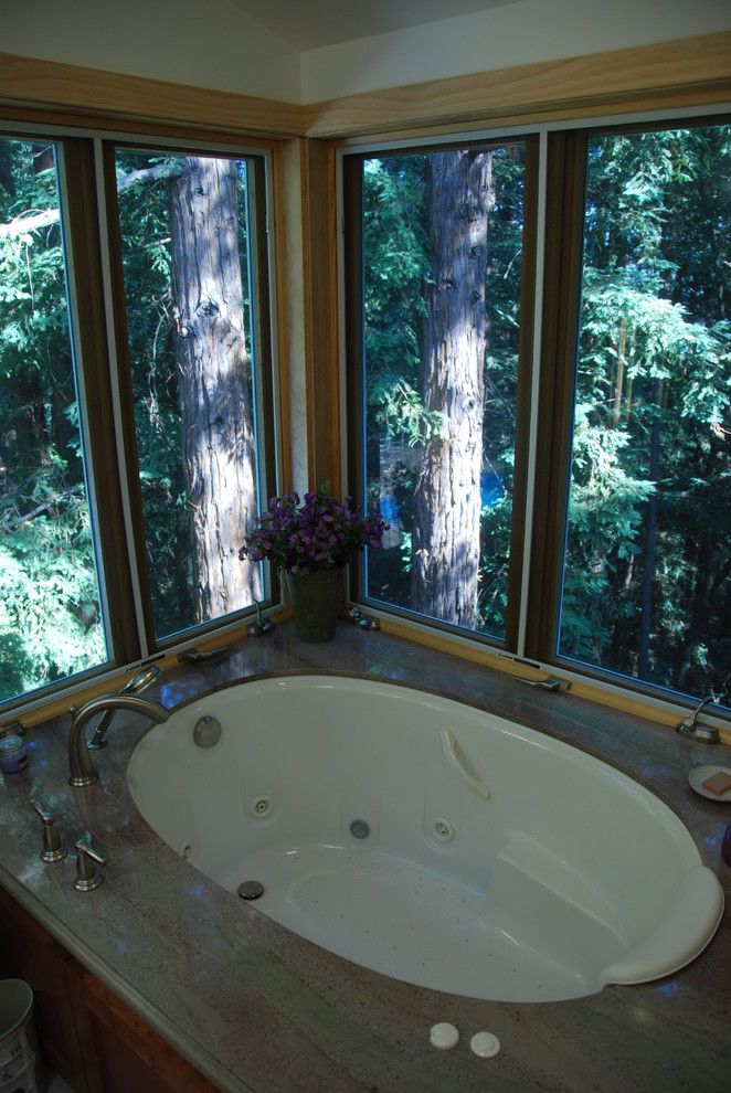 Jetta Tubs for a Contemporary Bathroom with a Jacuzzi Tub and Woodside, Ca by M. Designs Architects