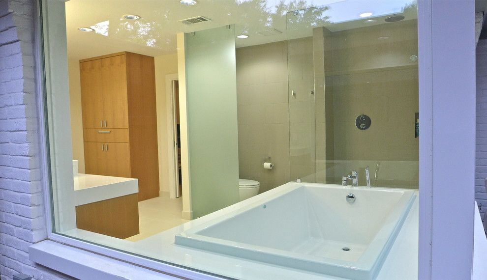 Jetta Tubs for a Contemporary Bathroom with a Rain Shower and 17205 by Est. 11 Architecture