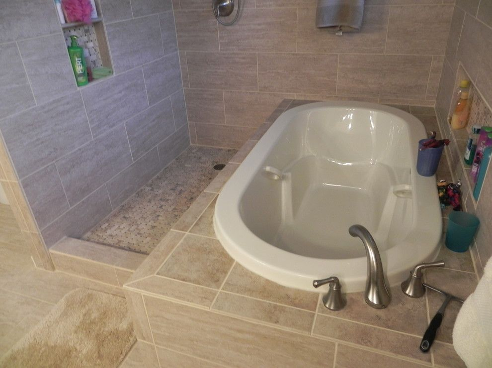 Jetta Tubs for a Contemporary Bathroom with a Soaking Tub and Deb and Neal Master Bath by 12 Jordan Stones, Llc
