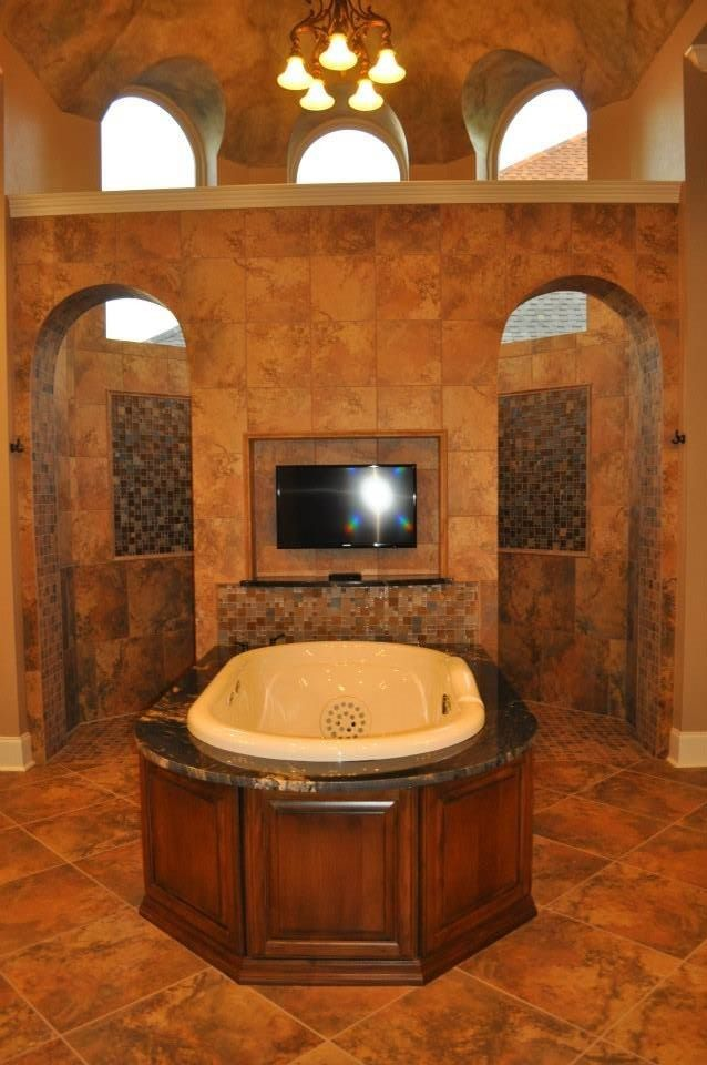 Jetta Tubs for a Mediterranean Bathroom with a Jetta Tub and Lakeshore Luxury by Welbilt Custom Homes, Inc.