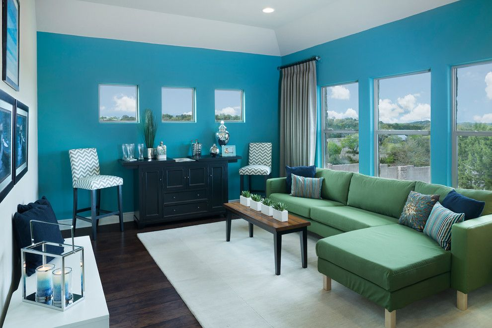 Jimmy Jacobs Homes for a Transitional Family Room with a Austin Texas and Rim Rock by Jimmy Jacobs Homes