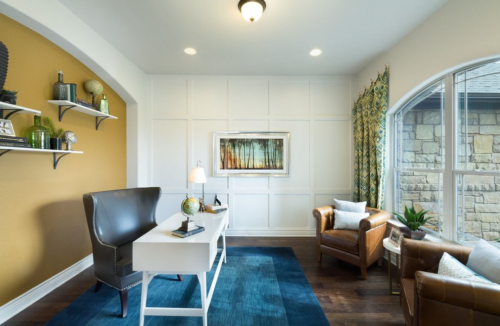 Jimmy Jacobs Homes for a Transitional Home Office with a Greenbelt Home Sites and Rim Rock by Jimmy Jacobs Homes