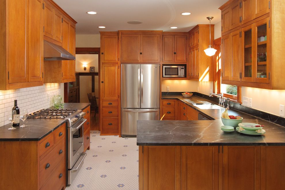 J&k Cabinets for a Craftsman Kitchen with a Bungalow Kitchen and Bungalow Kitchen by W.b. Builders