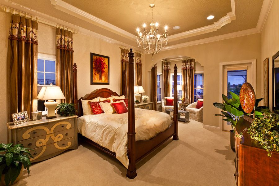 John Cannon Homes for a Mediterranean Bedroom with a Bedroom and the Akarra by John Cannon Homes, Inc. by John Cannon Homes