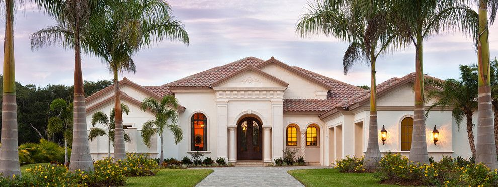 John Cannon Homes for a Mediterranean Exterior with a Double Doors and the Avianna by John Cannon Homes by John Cannon Homes