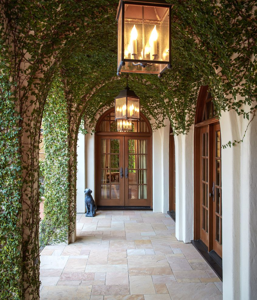 John Houston Custom Homes for a Mediterranean Entry with a Hanging Lantern and Bordley by Thompson Custom Homes