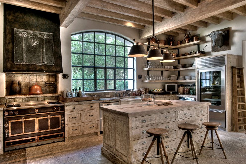 John Houston Custom Homes for a Mediterranean Kitchen with a Black Hardware and Custom Homes by Allan Edwards Builder Inc