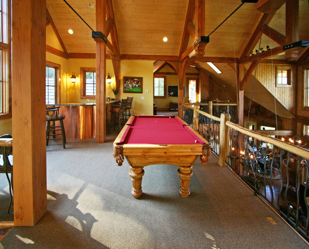Jordahl Custom Homes for a Craftsman Family Room with a Mosscreek and Meadow Lodge by Mosscreek by Mosscreek