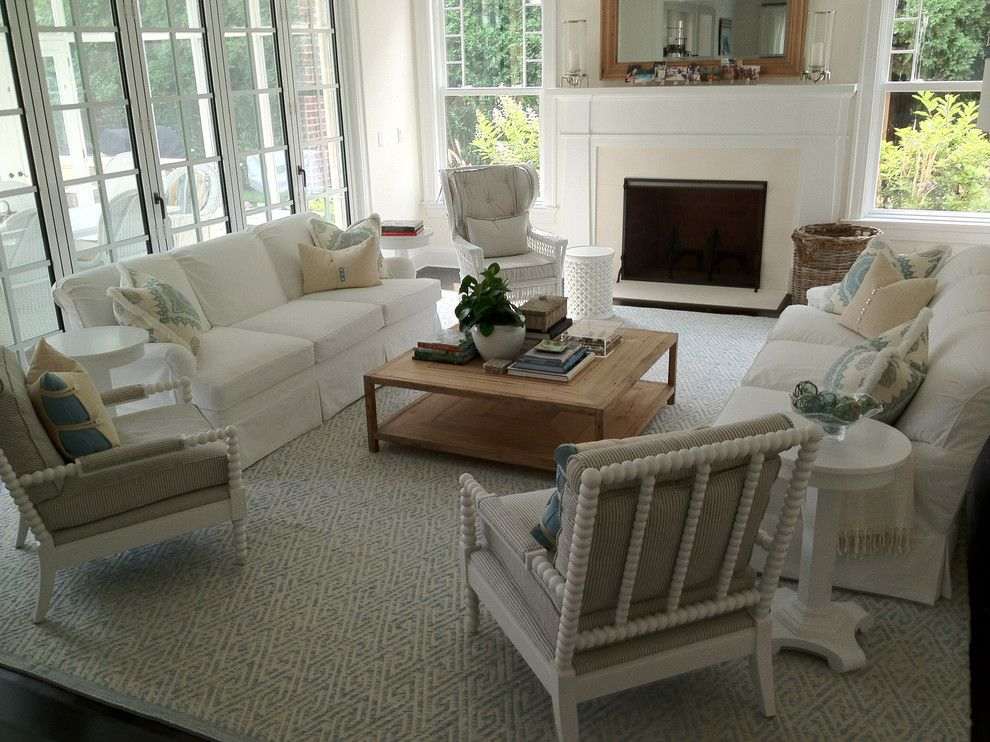 Julian Chichester for a Beach Style Family Room with a Clean and Beach House by Nld Design   Architecture & Interiors