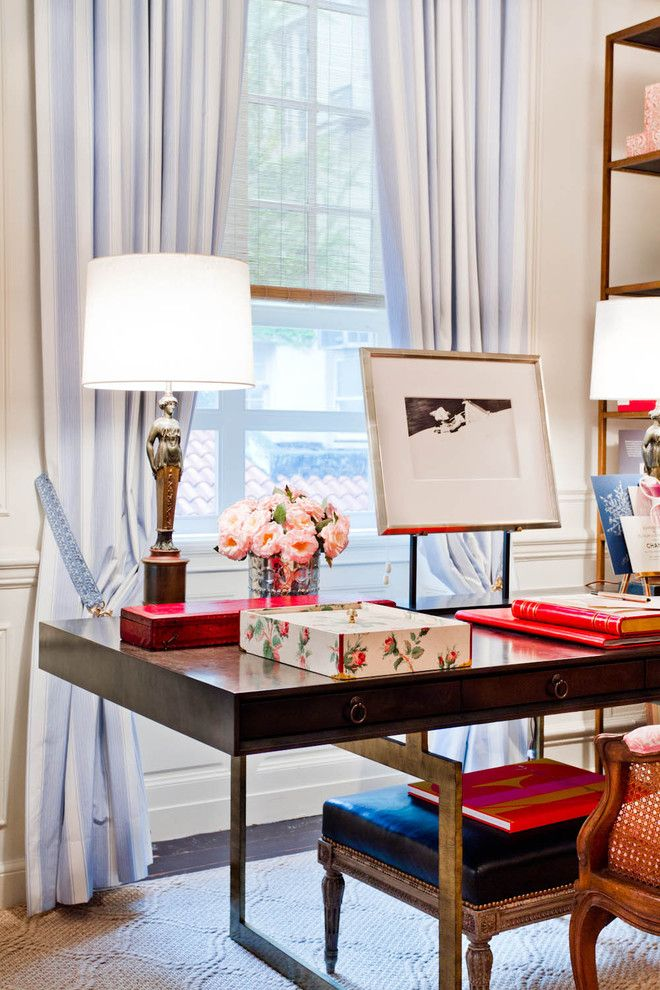 Julian Chichester for a Eclectic Home Office with a Eclectic and Charlotte Moss by Rikki Snyder