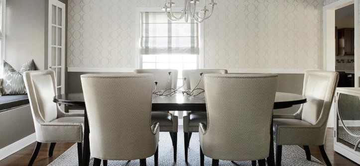 Julian Chichester for a Modern Dining Room with a Iron Gate Benjamin Moore and Soft Modern Dining Room by Karen B Wolf Interiors, Associate ASID