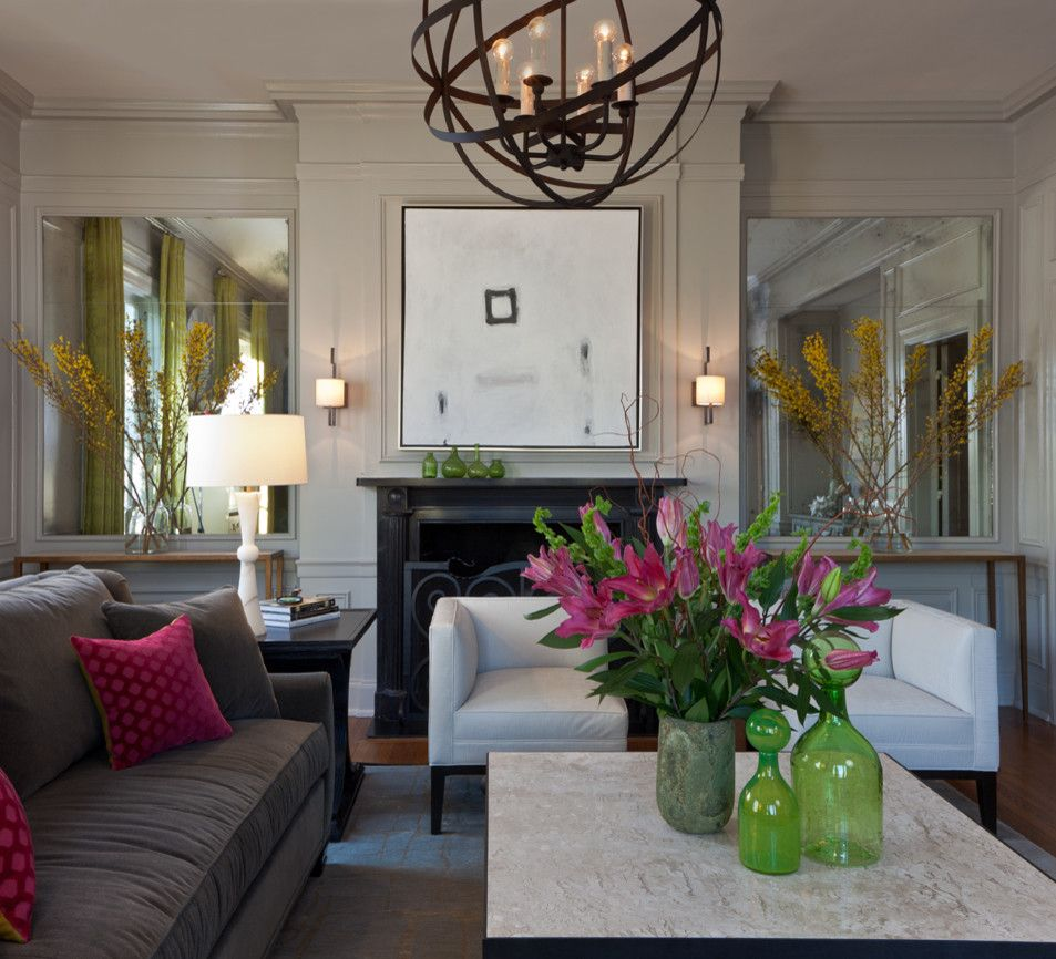 Julian Chichester for a Modern Living Room with a Marble Lamps and Refreshed Elegance by Beckwith Interiors