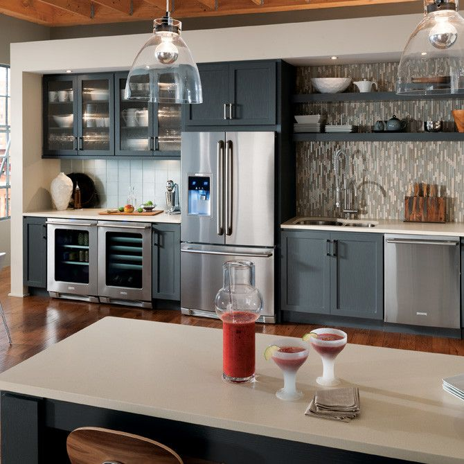 Kabinet King for a Industrial Kitchen with a Kabinetking Starmark Bridgeport Door S and KabinetKing-StarMark Cabinets by Kabinet King USA Inc