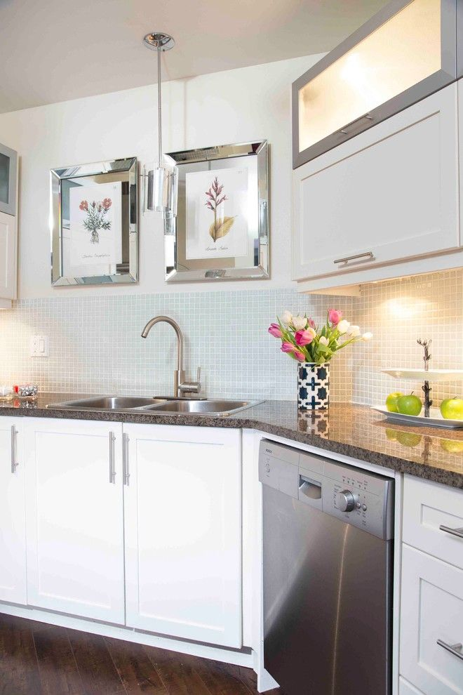 Kam Appliance for a Contemporary Kitchen with a Driftwood Floor and Ridout by Hedgeford & Berkley