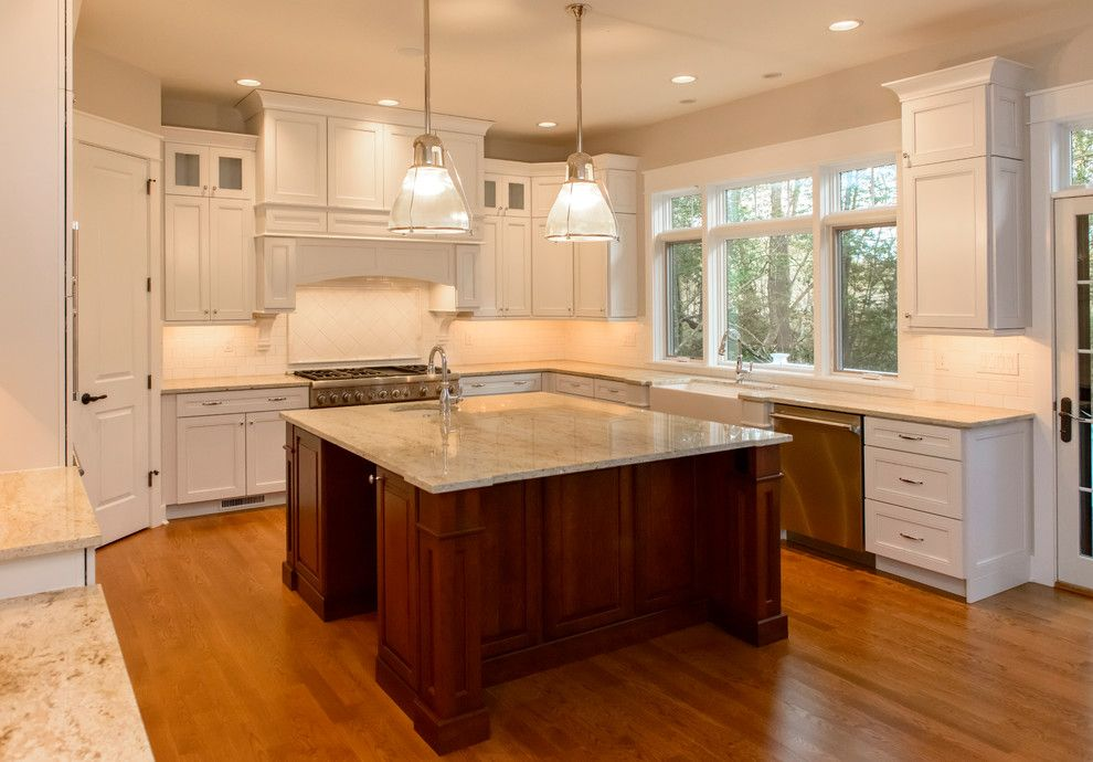 Kam Appliance for a Traditional Kitchen with a Shake and Wellstone Place by the Lewes Building Company