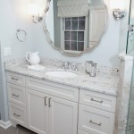 Kashmir White Granite for a Traditional Bathroom with a Tile Floor and Master Bathroom Retreat by Meredith Ericksen