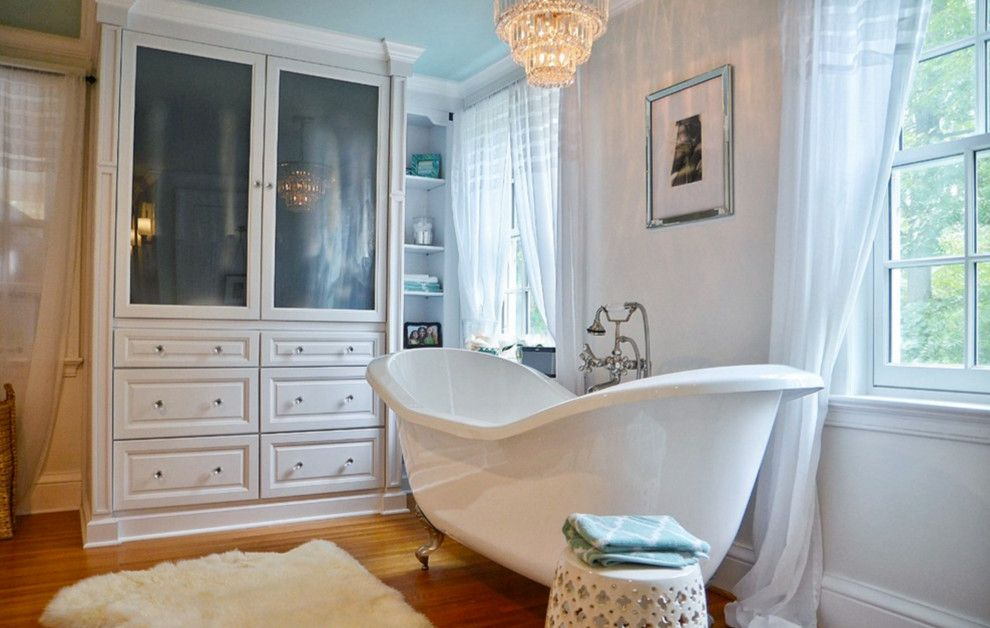 Katonah Hardware for a Traditional Bathroom with a Marble and Pittsford, Ny Traditional White Bathroom by Innovations by Vp