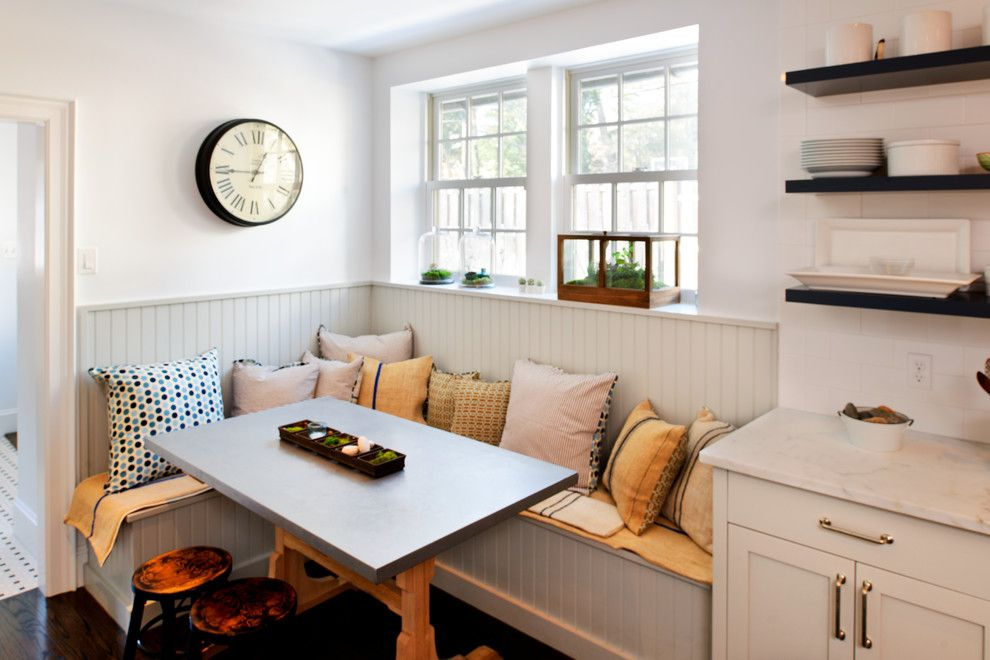 Katonah Hardware for a Transitional Kitchen with a Wainscoating and Bryn Mawr English Tudor Kitchen Remodel by Pinemar, Inc