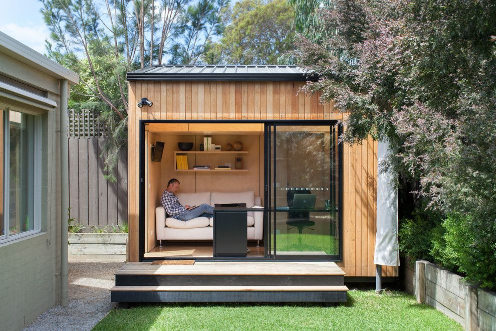 Kayak Shed for a Contemporary Shed with a Home Office and Blackburn Office Studio by Backyard Room