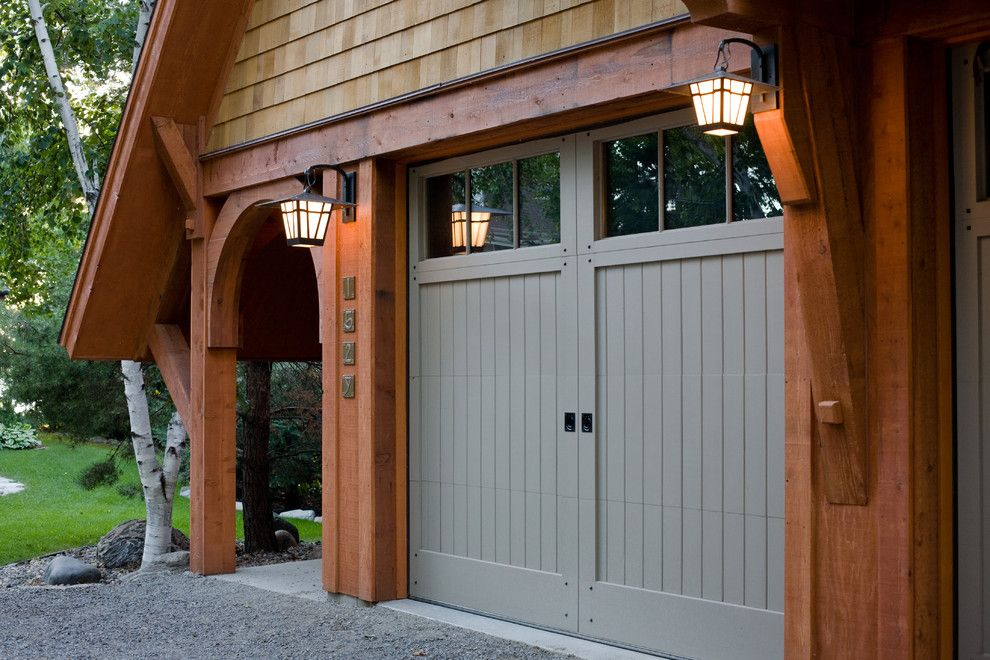 Kayak Shed for a Craftsman Garage with a Arched Doorway and Pulaski Carriage House by Murphy & Co. Design
