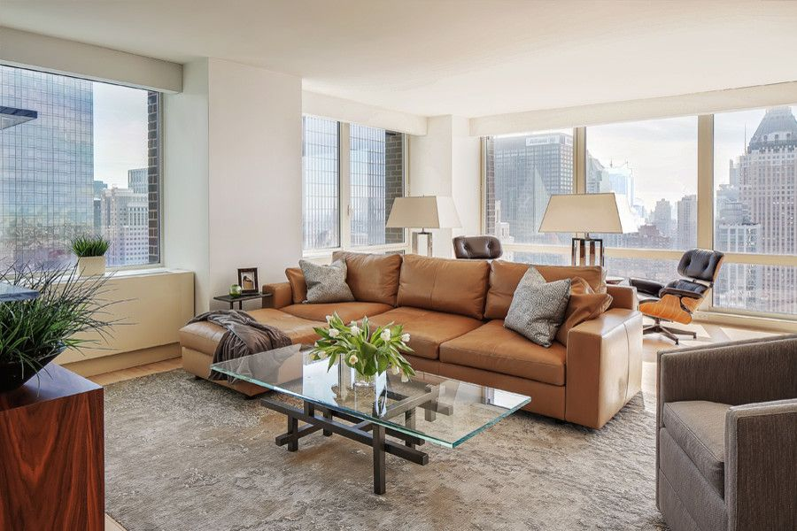 Keller Williams Nyc for a Contemporary Living Room with a Modern and Mid Town Manhattan by Jeannine Williams Design