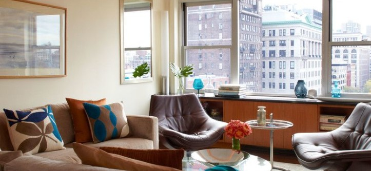 Keller Williams Nyc for a Contemporary Living Room with a Nyc Condo and East 9th Contemporary Loft by Jeannine Williams Design