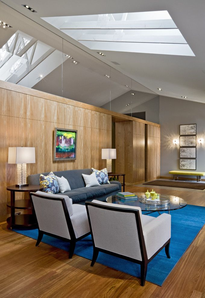 Keller Williams Nyc for a Modern Living Room with a Gray Sofa and Tyrol Hills Modern by Peterssen/keller Architecture