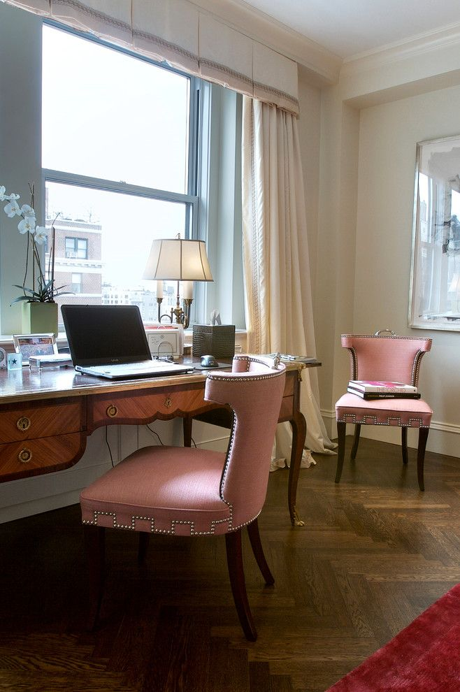 Keller Williams Nyc for a Transitional Home Office with a Feminine Home Office and Manhattan Loft Renovation by Jeannine Williams Design