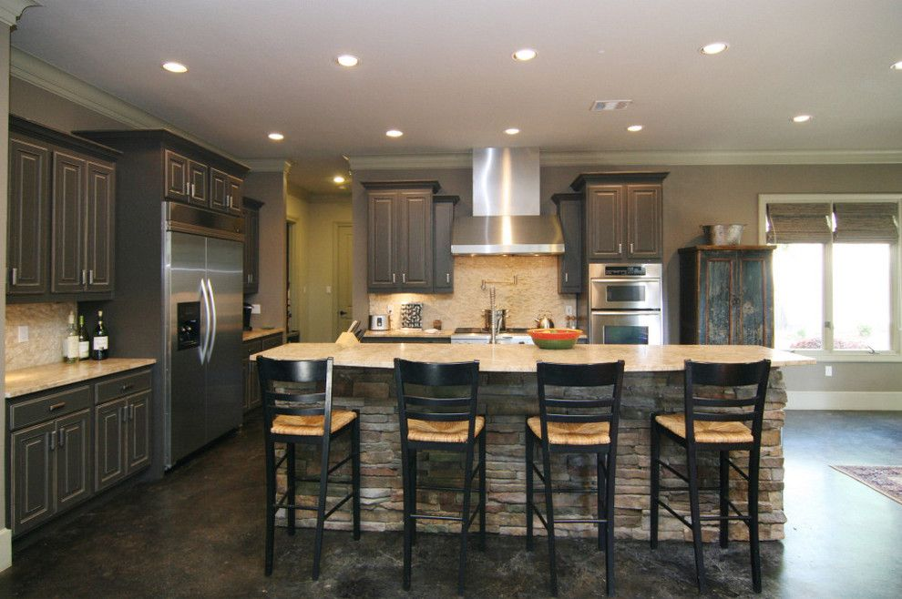 Kemiko for a Contemporary Kitchen with a Dry Stacked Stone and Thomas by Modern Craft Construction, Llc