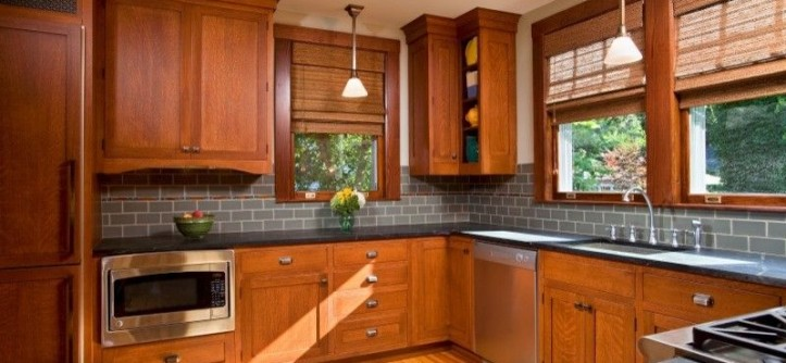 Kemper Cabinets for a Traditional Kitchen with a Traditional and Culinary Craftsman by Teakwood Builders, Inc.