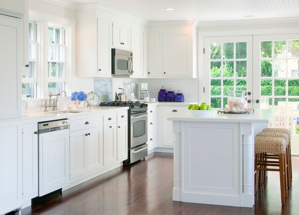 Kemper Cabinets for a Traditional Kitchen with a Traditional and Nantucket, Ma. by Beach Glass Interior Designs