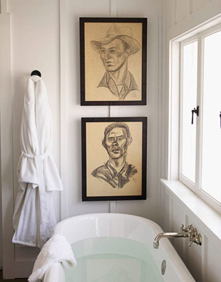 Ken Fulk for a Midcentury Spaces with a Art Hanging and Ken Fulk Portrait Wall by Lost Art Salon
