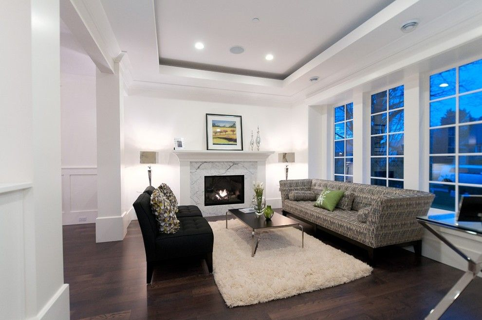Kentwood Flooring for a Contemporary Living Room with a Wood Floor and Kitsilano Residence by Rockridge Fine Homes