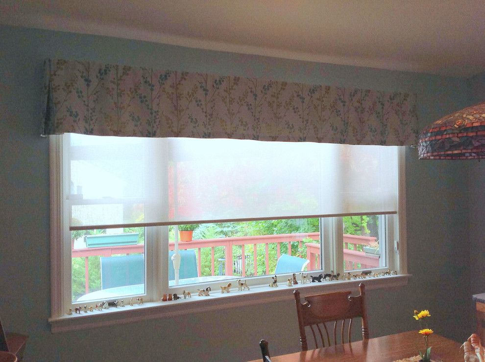 Kick Pleat for a Traditional Spaces with a Solar Shade and Solar Shade with Kick Pleat Valance by Tatyana Tchernov, a Smith & Noble in Home Designer