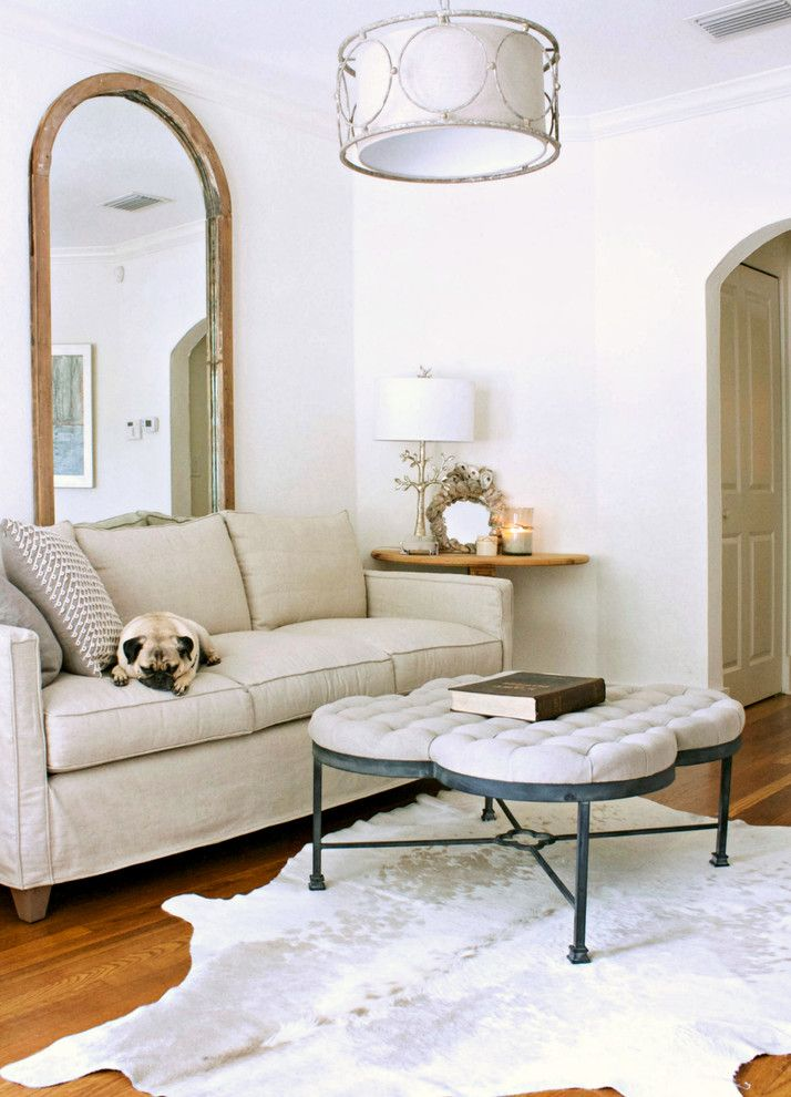 Kick Pleat for a Transitional Living Room with a Arched Doorway and My Houzz: Gagnon Residence by Mina Brinkey