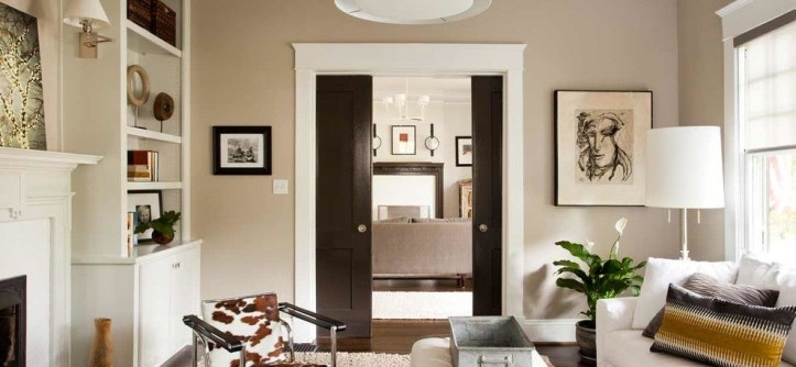 Kilim Beige Sherwin Williams for a Contemporary Living Room with a Crown Molding and Clairemont Whole House Renovation by Terracotta Design Build