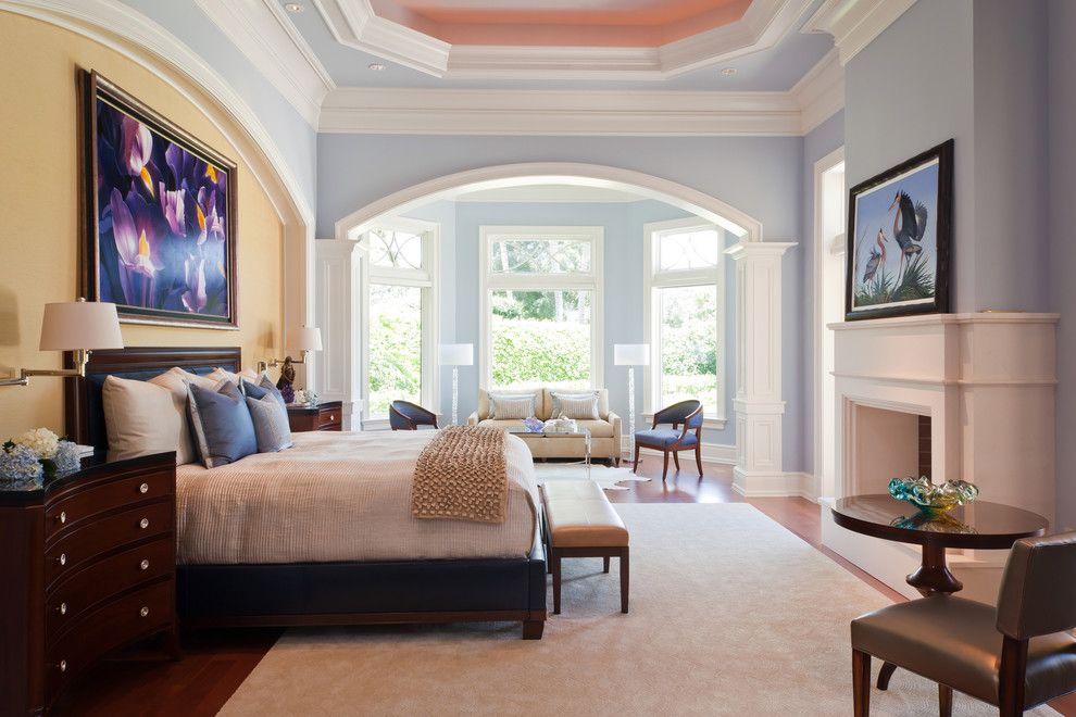Kilim Beige Sherwin Williams for a Traditional Bedroom with a Gray Side Chair and Bentgrass Bend, Naples, Fl, Private Residence by Harwick Homes