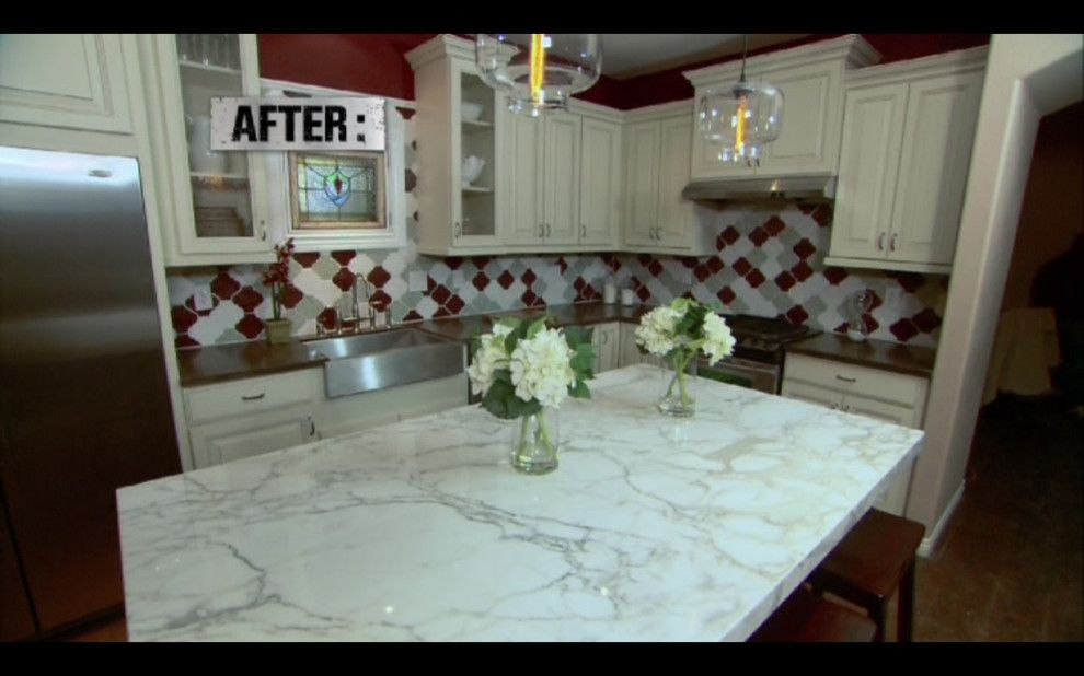 Kitchen Crashers for a Traditional Kitchen with a Blown Glass and Renovated Kitchen in Kitchen Crashers by Niche Modern