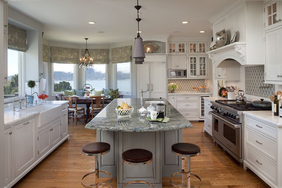 Kitchen Sink Lyrics for a Traditional Kitchen with a Under Cabinet Lighting and Project in Tiburon by Julie Williams Design