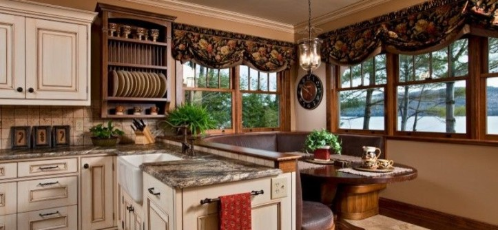 Kith Cabinets for a Traditional Kitchen with a White Cabinets and Legend of the Lake by Teakwood Builders, Inc.