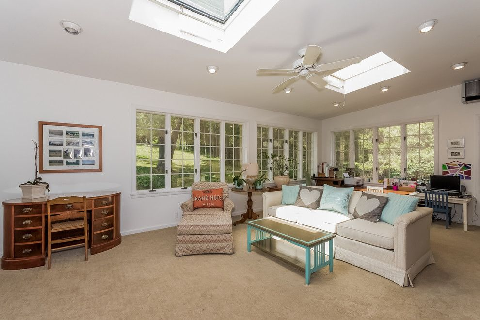 Klaffs for a Traditional Sunroom with a Expansion Possibilities and 22 Silver Brook Road, Westport, CT by Jillian Klaff Homes