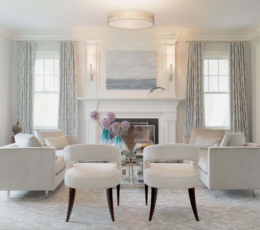 Klaffs Norwalk for a Traditional Living Room with a Beach Picture and Westport Refined Elegance by Susan Glick Interiors