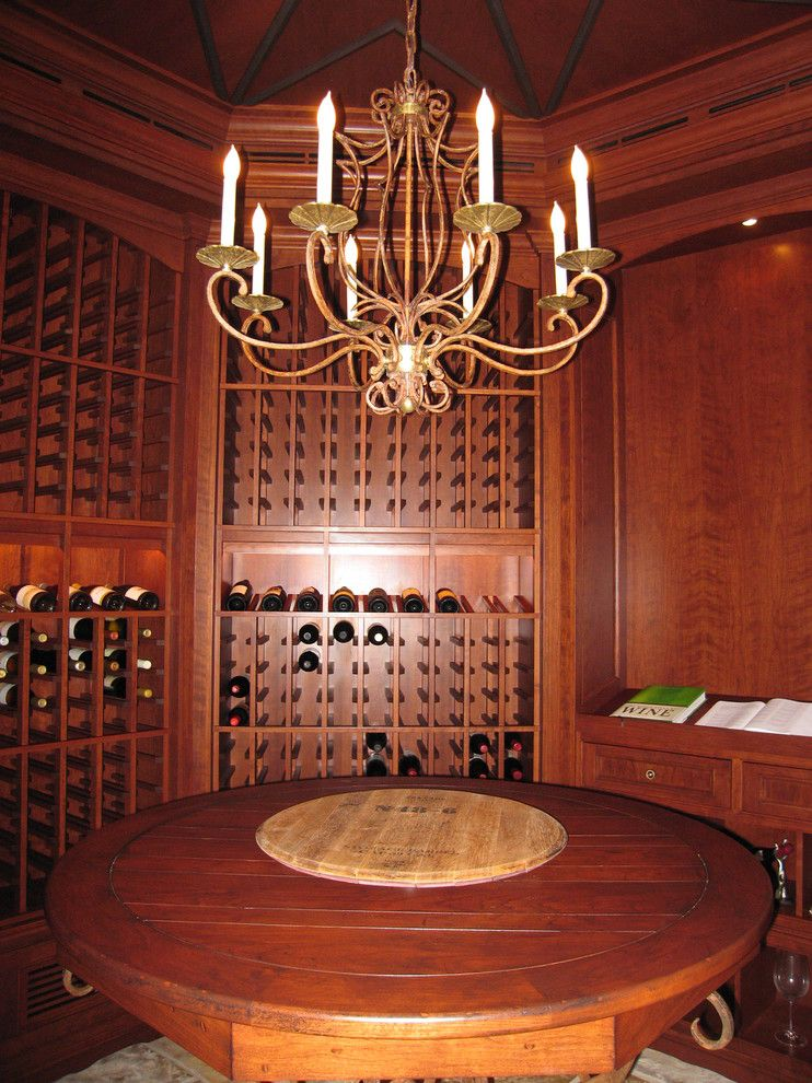 Klaffs Norwalk for a Traditional Wine Cellar with a Traditional and Octagonal Wine Cellar by Design Build Consultants Inc.