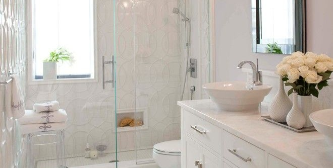Klaffs Norwalk for a Transitional Bathroom with a White Countertop and Debra Funt Interiors by Debra Funt Interiors