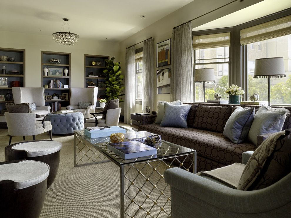 Kneedler Fauchere for a Contemporary Living Room with a Contemporary and Pacific Heights Transformations by Jeffers Design Group