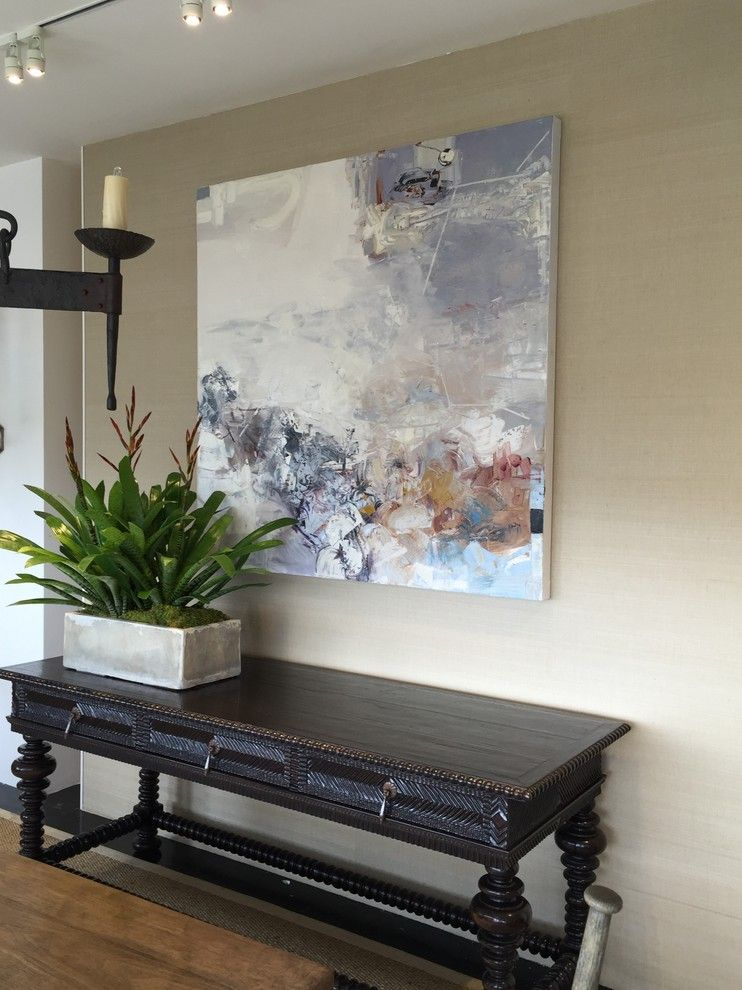 Kneedler Fauchere for a Transitional Spaces with a Artwork and Kneedler Fauchere/los Angeles by Laurie Ghielmetti