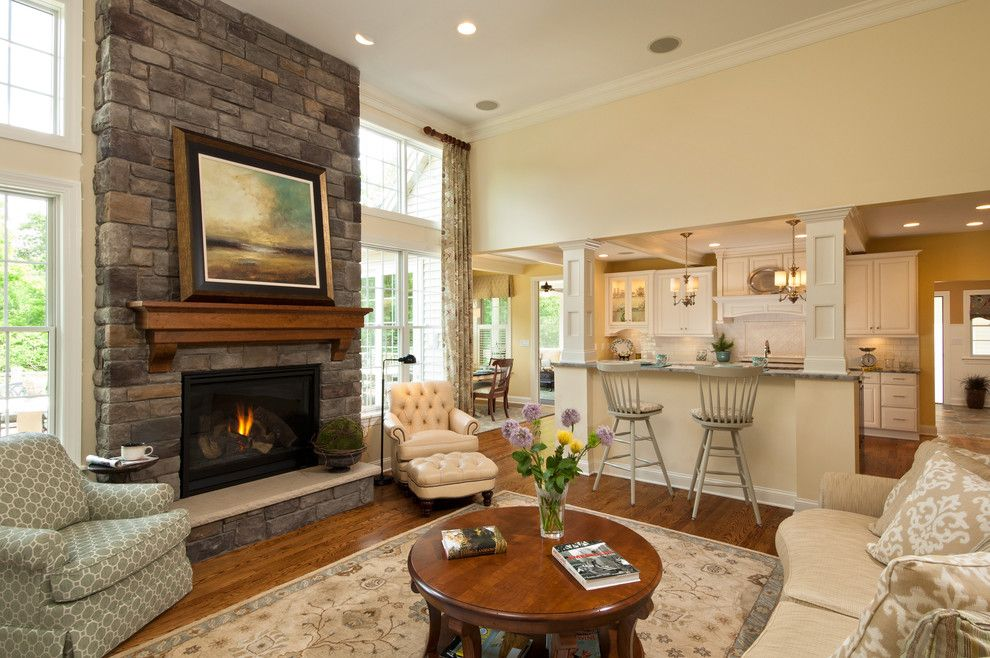 Knock Down Ceiling for a Traditional Family Room with a Family Room and 2012 Parade of Homes by Belmonte Builders